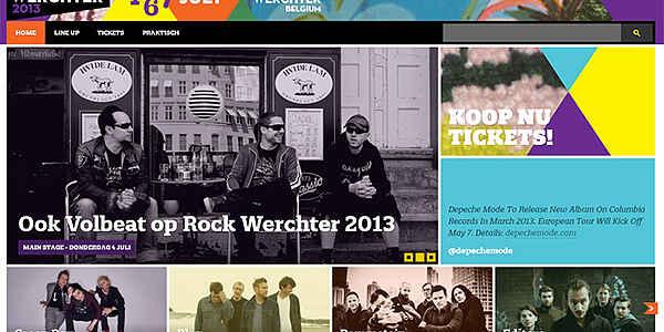 Le festival « Rock Werchter »