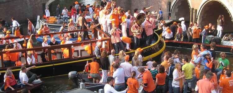 Fête de la reine à Amsterdam